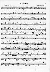 Paganini - Violin Concerto N4 - Instrument part - first page