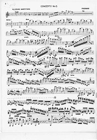 Paganini - Violin Concerto N5 a-moll - Instrument part - first page