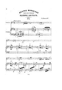 Afanasiev - Allegro Agitato for violin - Piano part - First page