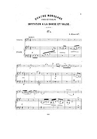 Afanasyev - Valse for violin - Piano part - First page