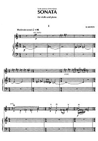 Arapov - Violin sonata - Piano part - first page
