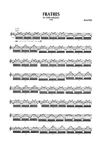 Arvo Pyart - Fratres - for violin and piano (1980) - Piano part - First page