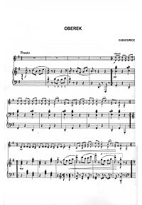 Bacevich - Oberek for violin - Piano part - First page