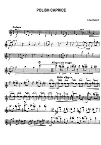 Bacevich - Polish caprice for violin - Instrument part - First page