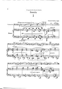 Barber - Cello sonata - Piano part - first page