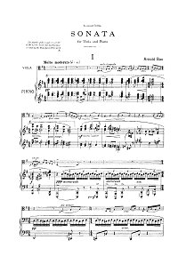 Bax - Viola sonata - Piano part - first page