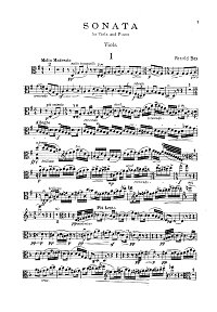 Bax - Viola sonata - Instrument part - first page