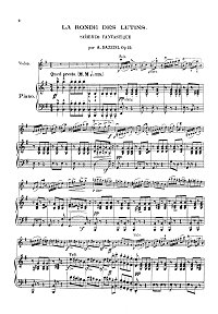 Bazzini - Fantastic scherzo op. 25 for violin - Piano part - first page