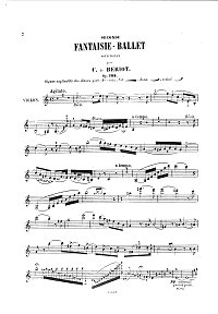 Beriot - Fantasy-ballet Op.105 for violin - Instrument part - first page
