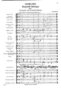 Bloch - From Jewish Life - Prayer for cello and piano - Score - first page