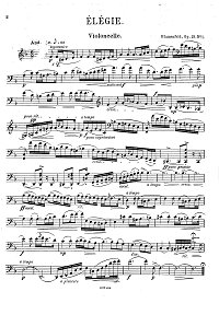 Blumenfeld - 2 pieces for cello and piano op.19 - Instrument part - first page
