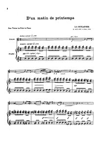 Boulange - D un matin de printemps for violin - Piano part - First page