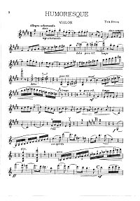 Bowen - Humoresque for violin - Instrument part - First page