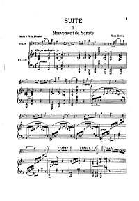 Bowen - Suite for violin and piano - Piano part - First page