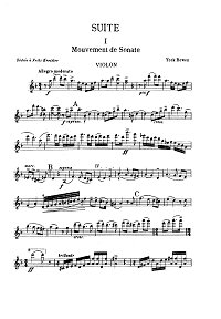 Bowen - Suite for violin and piano - Instrument part - First page