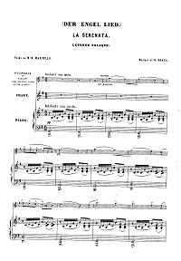 Braga - Serenade for violin - Piano part - first page