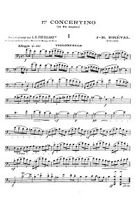 Brüll - Concertino N1 for cello F-dur - Instrument part - first page