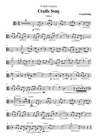Bridge - Lullaby for violin and piano - Viola part - First page