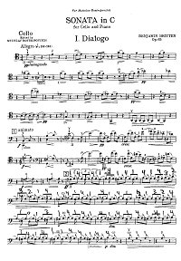 Britten - Cello sonata op.65 - Instrument part - first page