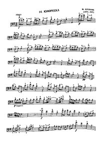 Bukinik - Humoresque for cello and piano - Instrument part - first page