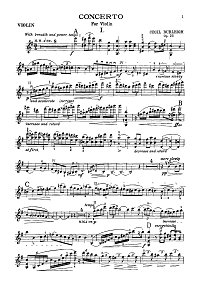 Burle - Violin concerto - Instrument part - First page