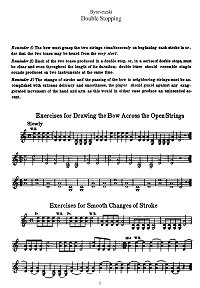 Bytovetzky - Double stopping exercises for violin - Instrument part - first page