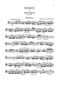 Caporalle - Cello sonata - Instrument part - first page