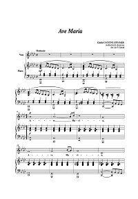 Caccini - Ave Maria for violin - Piano part - First page