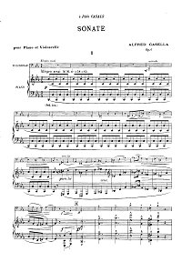 Casella - Cello sonata N1 op.8 - Piano part - first page