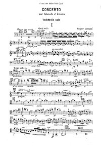 Cassado - Cello Concerto - Instrument part - first page