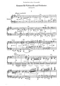 Cassado - Tchaikovsky  - Cello Concert op.72  - Piano part - first page