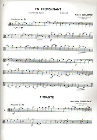 Classical pieces for viola - Compilation Book - Instrument part - first page