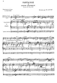 Couperene - Three fantasies for violin and piano - Piano part - First page
