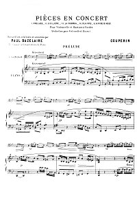 Couperin - 5 Concert pieces for cello - Piano part - first page