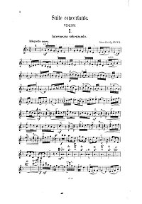 Cui - Suite concertante for violin op.25 - Instrument part - first page
