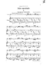 Cui - Suite concertante for violin op.25 - Piano part - first page