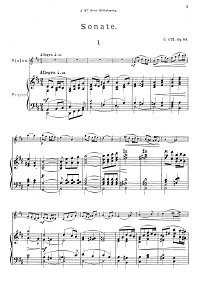 Cui - Violin sonata D-dur op.84 - Piano part - first page