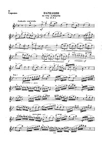 Dancla - Variations on Donizetti theme for violin- Instrument part - First page