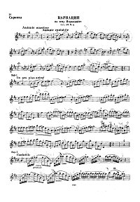 Dancla - Variations on Mercadante theme for violin - Instrument part - First page