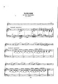 Dancla - Variations on Mercadante theme for violin - Piano part - First page