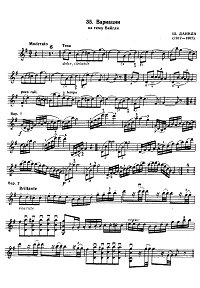 Dancla - Variations on Weighl theme for violin - Instrument part - First page