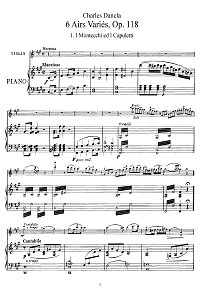 Dancla - 6 violin Variations op.118 - Piano part - First page