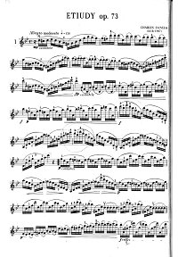 Dancla - Exercices for violin op.73 - Instrument part - First page