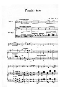 Dancla - Three concert solos for violin - Piano part - First page