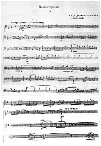 Debussy - Minstrels for cello - Instrument part - first page