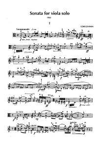 Druzhinin - Sonata for viola solo (1961) - Instrument part - first page