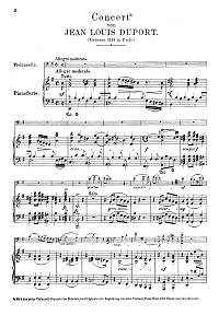 Duport - Cello concerto N4 e-moll - Piano part - first page