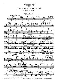 Duport - Cello concerto N4 e-moll - Instrument part - first page