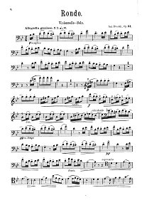 Dvorak - Rondo for cello op.94 - Instrument part - first page