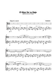 Granados - El Mirar De La Maja for viola and guitar - Piano part - First page